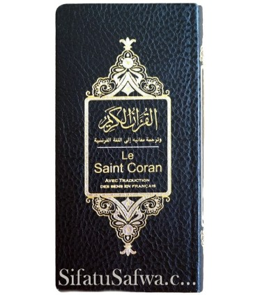 French-Arabic Quran - flexible leather cover