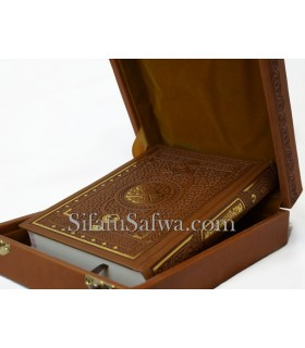 Quran in his luxury box - Leather engraved